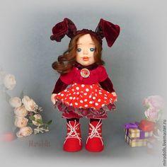 Купить Зайка,заинька.Зайка тедди долл коллекционная кукла игрушка. - бордовый, зайка, заинька
