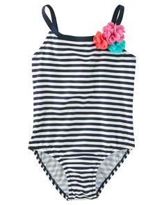 053e1d59c7 OshKosh Rosette Stripe Swimsuit. SwimsuitsBikinisSwimwearStriped  SwimsuitGirls ...