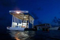Dive boat at night, Fulidhoo Maldives  www.fulidhoodive.com