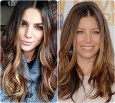 2014 Winter/2015 Hairstyles and Hair Color Trends salted caramel brown ombre hair colors salted caramel brown hair colors with a little highlights