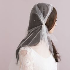 Vintage Inspired Juliet Wedding Veil With Crystal Sparked Long Veil With Clips Gathered Sides Bridal Wedding Hat Tulle Veil