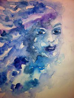 Donna in blu di Matilde Menicozzi