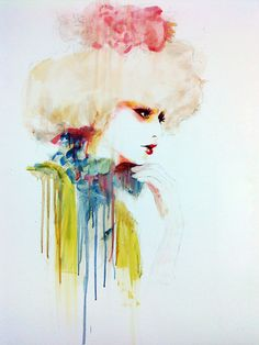 Floyd Grey; Eccentric Illustration  If you are a Hunger Games fan you think this looks like Effie Trinket.