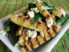 For the Love of Cooking » Grilled Zucchini Spears with Lemon Vinaigrette