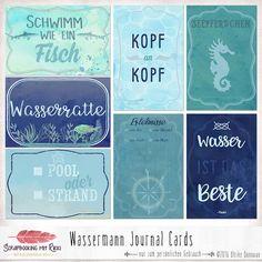 In diesem Set sind sieben Scrapbook Journaling Karten im Format 4x6 inches zum Thema Wasser und Schwimmen enthalten. Die Wassermann Journaling Karten sind für alle Wasserratten geeignet, egal ob es...