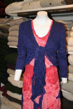 Irish Handcrafts -  Lauren Vidal Dress – Dia, Coral/Violet RE7686 - teamed with Lauren Vidal Shrug.