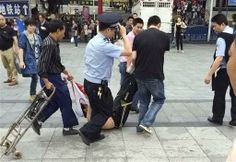 "6 Injured in Hacking Attack at Chinese Railway Station"" Hack Attack, China, Train Station, Beijing, Guangzhou, The Past, Hacks, People, Train"
