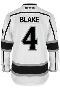 Los Angeles Kings VINTAGE Rob BLAKE  4  C  Official Away Reebok Premier  Replica 38b562c23