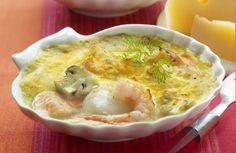 Recept visgratin met oud brugge of brugge prestige kaas Belgian Cuisine, Belgium Food, Comfort Food, Fish And Seafood, Fish Recipes, Good Food, Brunch, Food And Drink, Tasty