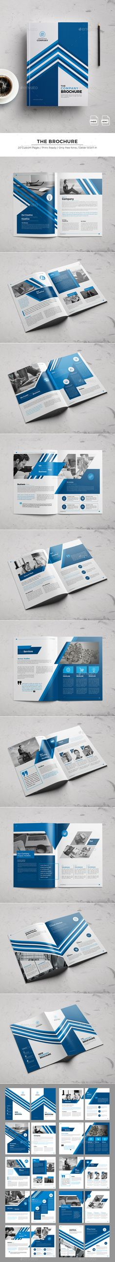 The Brochure — InDesign INDD #catalog #company • Download ➝ https://graphicriver.net/item/the-brochure/19249645?ref=pxcr