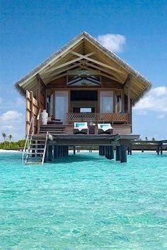 Ocean Huts in Bora Bora....wanna in stay in one someday. #HoneymoonIdeas =)