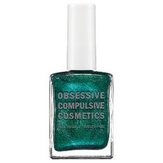 Obsessive Compulsive Cosmetics Nail Lacquer in Man By Man - divinely decadent pearlescent teal w/ metallic finish #sephora