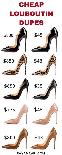 3879577cf68f Louboutin Dupes That Won t Break The Bank And Your Feet. So Kate  LouboutinBlack Louboutin HeelsChristian ...