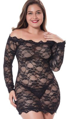 The LINGERLOVE Womens Plus Size Sexy Lingerie Chemise Floral Lace Babydoll See Through Bodysuit Lingerie online shopping - Prettytoppro Bridal Lingerie, Women Lingerie, Sexy Lingerie, Quality Lingerie, Bodysuit Lingerie, Lace Babydoll, Plus Size Lingerie, Floral Lace, Plus Size Fashion
