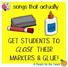 Bright Ideas Blog Hop- Get Students to Close Markers and Glue!