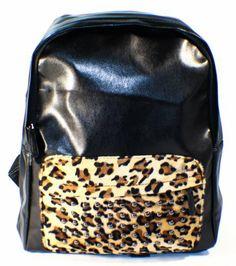 BLACK PU Pleather Studded Backpack School Bag Leopard Print Front Pocket! Super COOL! Jam_closet,http://www.amazon.com/dp/B008ZKO6W0/ref=cm_sw_r_pi_dp_mEZ0sb0SEN9DSNGV