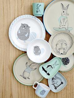 Dětský melaminový talíř Beaver | Nordic Day