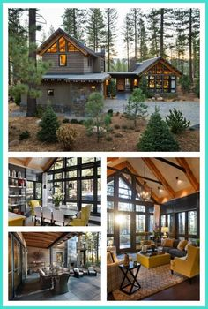 Loved this year's HGTV Dream Home? Check out HGTV Smart Home 2014 and enter for… – 2019 - House ideas Hgtv Dream Homes, Log Cabin Homes, Cabins And Cottages, House Goals, My Dream Home, Future House, Home Fashion, Beautiful Homes, Architecture Design