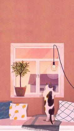 17 Wallpapers for kitty lovers Cute Pastel Wallpaper, Cat Wallpaper, Kawaii Wallpaper, Screen Wallpaper, Cartoon Wallpaper, Wallpaper Backgrounds, Iphone Wallpaper, Illustration Art, Illustrations