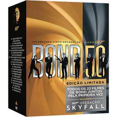 Coleção DVD 007 Celebrando Cinco Décadas de Bond - Incluindo 007 Operação Skyfall (23 Discos)