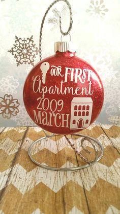 Christmas Ornaments First Apartment Gift Glass Ornament House Decorations Gifts Under 20 Decor For