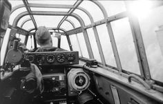 November 1940 over France a look inside the cockpit of the BF-110 note you can see the pilot's face in the little mirror