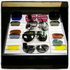 sunglasses with interchangeable lenses, hot!