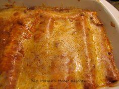 Big Mama's Home Kitchen: Cheese Enchiladas