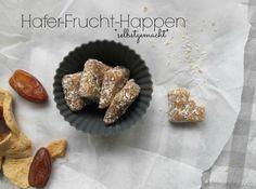 selbstgemachte hafer frucht happen gesunder snack. sehr lecker und für mich zum nachmachen :-)