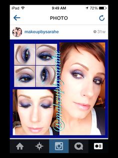 Colorful smoked liner makeup look. For list of products, just ask!!