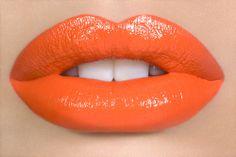 matte orange lips