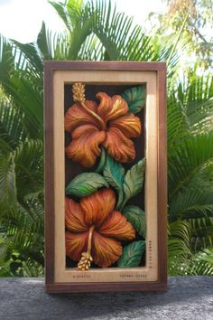Hibiscus Flower Wood Carving
