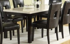 Dining Table in Faux Marble Top of Archstone Collection by Homelegance * Be sure to check out this awesome product-affiliate link. #DiningTables