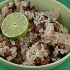 Slow Cooker Coconut Red Beans and Rice, use veg broth instead of chicken broth