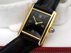 Fancy Watches, Trendy Watches, Vintage Watches, Luxury Watches, Watches For Men, Cartier Santos, Cartier Watches Women, Cartier Panthere, Tank Watch