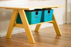 Build a PB Kids inspired work table. | 21 Pottery Barn Inspired DIYs