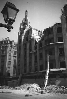 April-May 1944 – British American bombardments in Bucharest – dead, wounded, left without homes(source). August 1944 – Nazi bombardments in Bucharest R… British American, Bucharest, Rare Photos, Time Travel, World War Ii, Romania, Past, Ww2, Traveling