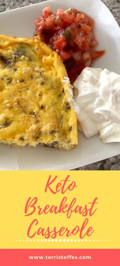 A delightfully easy casserole that is delicious served as leftovers. It makes a quick day-to-day breakfast.  #ketobreakfast #ketoeggs #ketocasserole