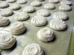 Homemade butter mints. Different ingredients from most recipes. From Neverending Yarn Blog