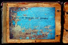 a page from An Object Found by Seth Apter (The Altered Page) - mixed media artist book embleiished with distressed metals, ephemera and found objects http://thealteredpage.blogspot.com/2011/06/object-found.html http://www.etsy.com/shop/thealteredpage