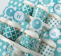 Tiffany Cupcake Topper & Wrappers