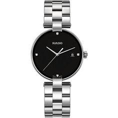 Rado COUPOLE R22852703 36mm Diamonds Silver Steel Bracelet & Case Synthetic Sapphire Women's Watch