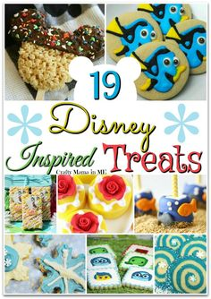 Are you planning a Disney themed party soon? If so don't miss out on this amazing roundup of 19 Disney Inspired Sweets and Treats! Disney Dishes, Disney Desserts, Disney Snacks, Disney Diy, Disney Crafts, Disney Food, Disney Recipes, Disney Trivia, Disney Drinks