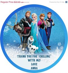 20 OFF SALE Digital frozen elsa olaf sven anna Printable by Samair, $2.80