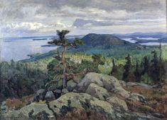 Järnefelt/Koli 1917 Scandinavian Paintings, Scandinavian Art, Landscape Art, Landscape Paintings, Coastal Paint, Russian Painting, Closer To Nature, Old Paintings, Nature Photography