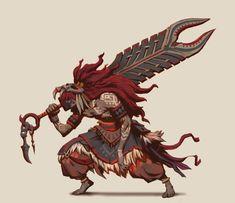 Character designs (Spirit Warriors & Vampiric Lords) by David Ko Fantasy Character Design, Character Design Inspiration, Character Concept, Character Art, Creature Concept Art, Weapon Concept Art, Creature Design, Style Tribal, Aztec Warrior