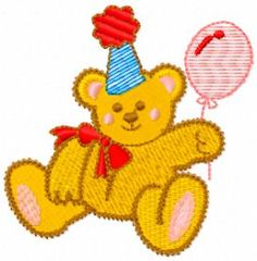 Teddy bear free machine embroidery design. Machine embroidery design. www.embroideres.com