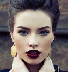 amazing full lips and dark lipstick