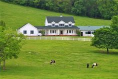 Tennesee!  Gorgeous views! Beautiful custom home on 40 rolling acres, creek, inground pool, 2 horsebarns, one with living quarters, shop and haybarn. All fenced & crossfenced. Complete pkg.