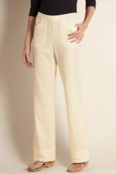 Straight Leg Gauze Pant - Straight Leg Pants, Gauze, Pull-on Styling   Soft Surroundings